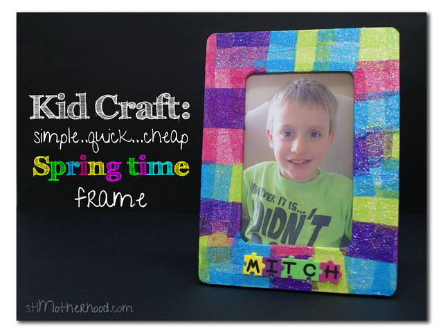 colorful tissue paper decoupage frame
