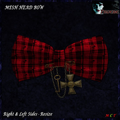 [NEW ON SALE!] *P* Pam Head Bow ~Red1~