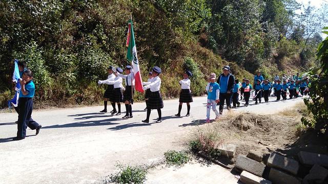Desfile del 24 de Febrero 2017 en Bijahual (Chiapas). Barrio Bijahual, Pavencul, Tapachula, Chiapas, México.