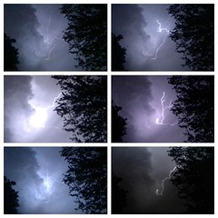 Got lucky with the iPhone tonight getting some pics of the lightening.