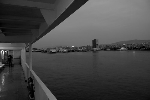 View of Piraeus by boat