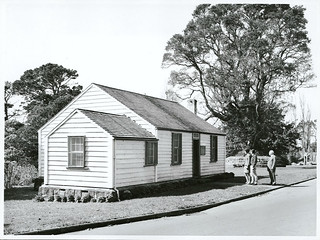 "Auckland's oldest wooden cottage, built in 1843 by the ""Father of Auckland"", Sir John Logan Campbell, is situated in Cornwall Park, opposite the kiosk."