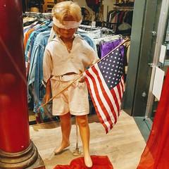 Freedom. #freedom #shopwindow #display #flag #american  #oppression