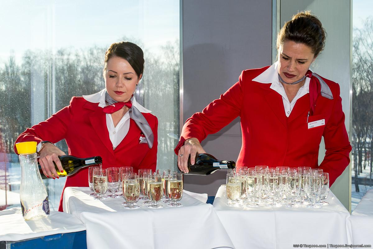 Шампанское  Austrian Airlines