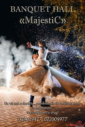 """""""MajestiC"""" - modern, deosebit, accesibil!  > Banquet Hall """"MajestiC"""" — un local special pentru nunta ta deosebita"""
