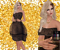 Eyeshadow by You got the Look, Hairstyle by Jumo, Dress by Glitter Fashion, Pose by Glitter Poses, Nails by LUNA::. Body Art, Swank Event.