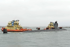 USS Pasadena (SSN 752) arrives at Naval Base Point Loma, March 30. (U.S. Navy/MC1 Derek Stroop)