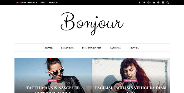 Bonjour WordPress Theme free download