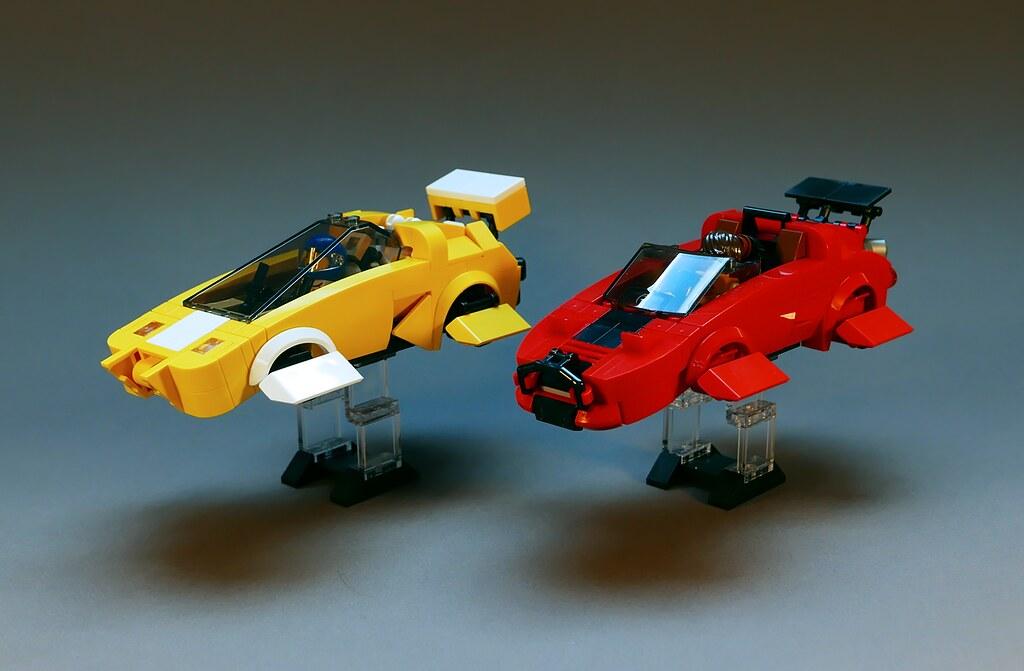Hovercars LEGO MOC (custom built Lego model)