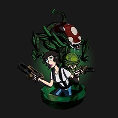 Ugh woke up and forgot to post my #AlienDay love last night. An oldie but a goodie! #swittart  #alien #aliens #supermario #nintendo #mashup