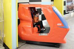 Wilfie in the jet simulator