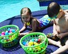 Easter Bounty and Pool time!  Easter 2017. #zane #cora
