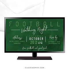 This one is for the boys. Because sometimes all you need is a relaxing night at home with the boys #football #sports #partyinvitations