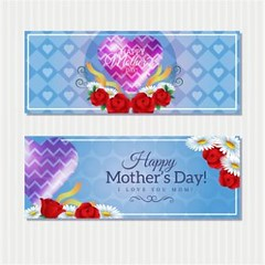 free vector Happy mother day Cute banners Cards