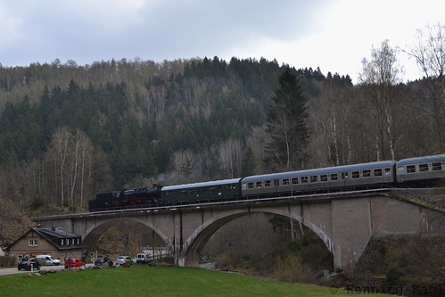 50 3648-8 auf dem Viadukt Bärenhecke km22
