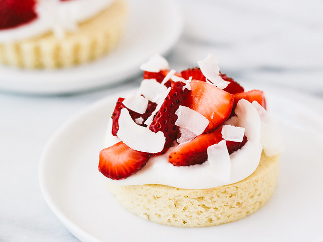Strawberry coconut shortcakes