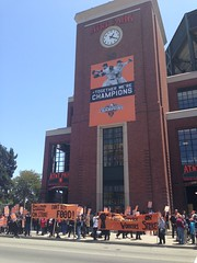 concession workers on #strike @sfgiants @UniteHereLocal2 #sfgiants #giantZero #baseball #mlb  #1u