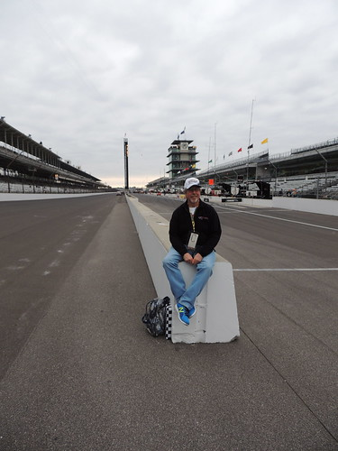 me sitting on pit wall @ IMS