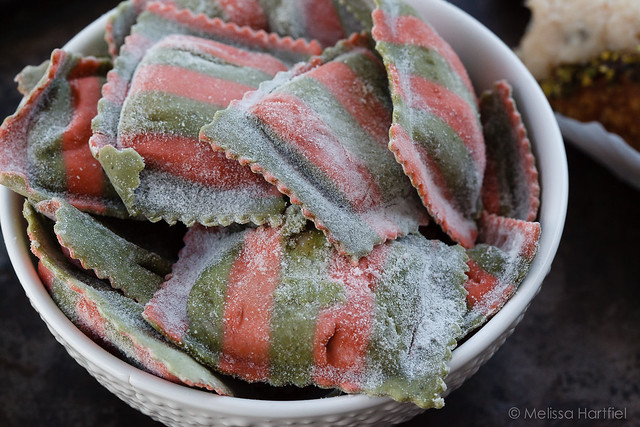 ravioli - artichoke and sun dried tomatoes