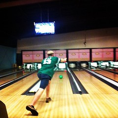 OTL Alex from @tuorientation at Rock N Bowl for New Student Orietation #tuorientation #onlyattulane
