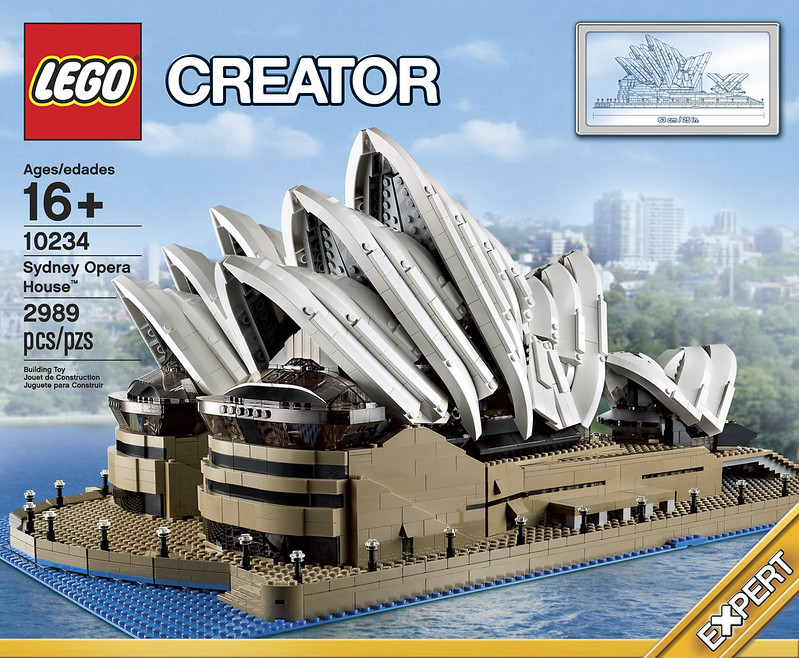 Opera Sydney Lego kit 10234 box by Brickset