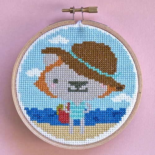 Beach Bear Cross Stitch