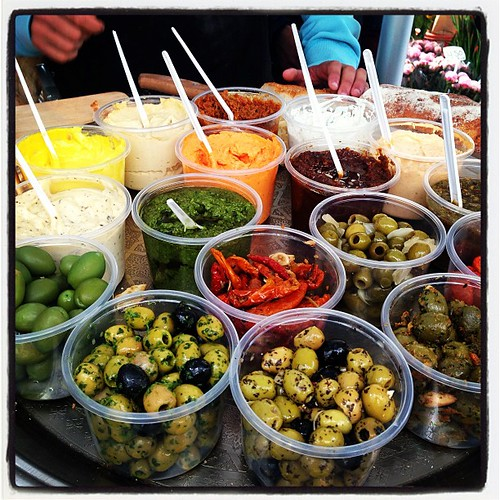 A phenomenal spread of #olives and #dips - with #crackers and the finest #breads for canvas-only @#ilias's delicatessen