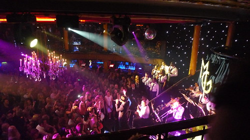 Matt Goss seranading loyal fans at Cafe de Paris