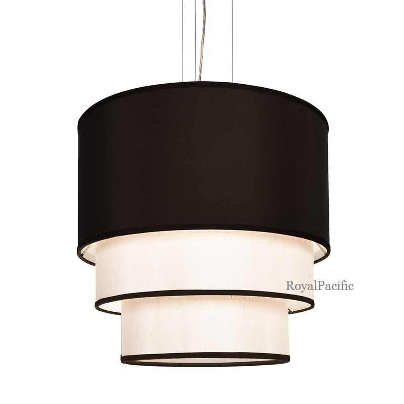 lamp 3 tier 20 5 drum shade chandelier pendant lighting fixture