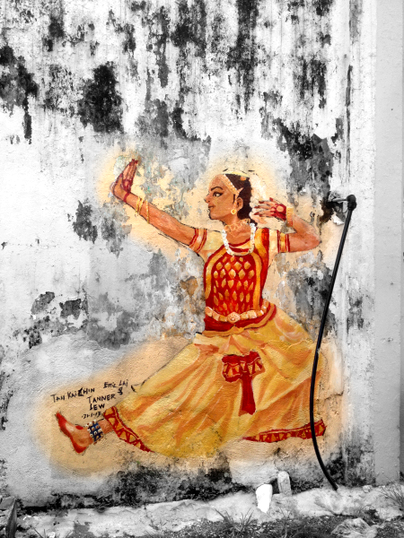 Ipoh Wall Paintings Street Arts Indian Dance