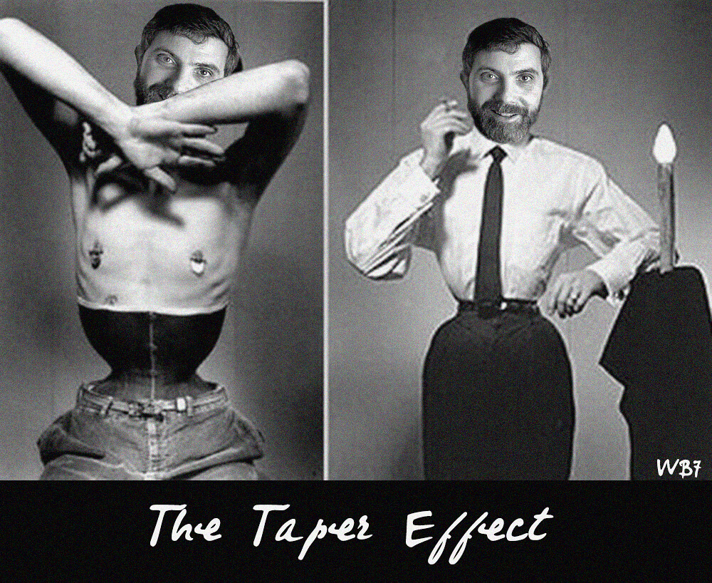THE TAPER EFFECT DEMONSTRATED