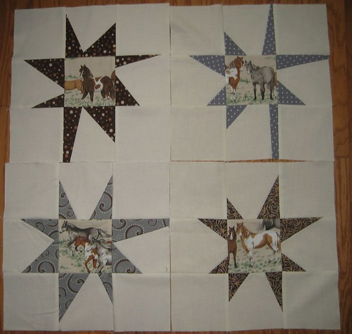 wonky stars with pony centers!
