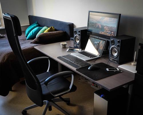 My desk in September 2013