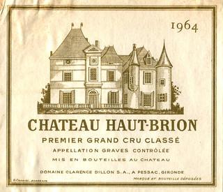 France - Château Haut-Brion 1964 (Bordeaux)