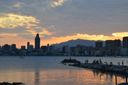 Benidorm sunset view by Ginas Pics