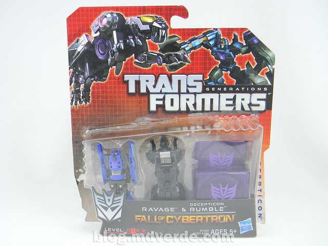 Transformers Rumble y Ravage Legends - Generations Fall of Cybertron - caja
