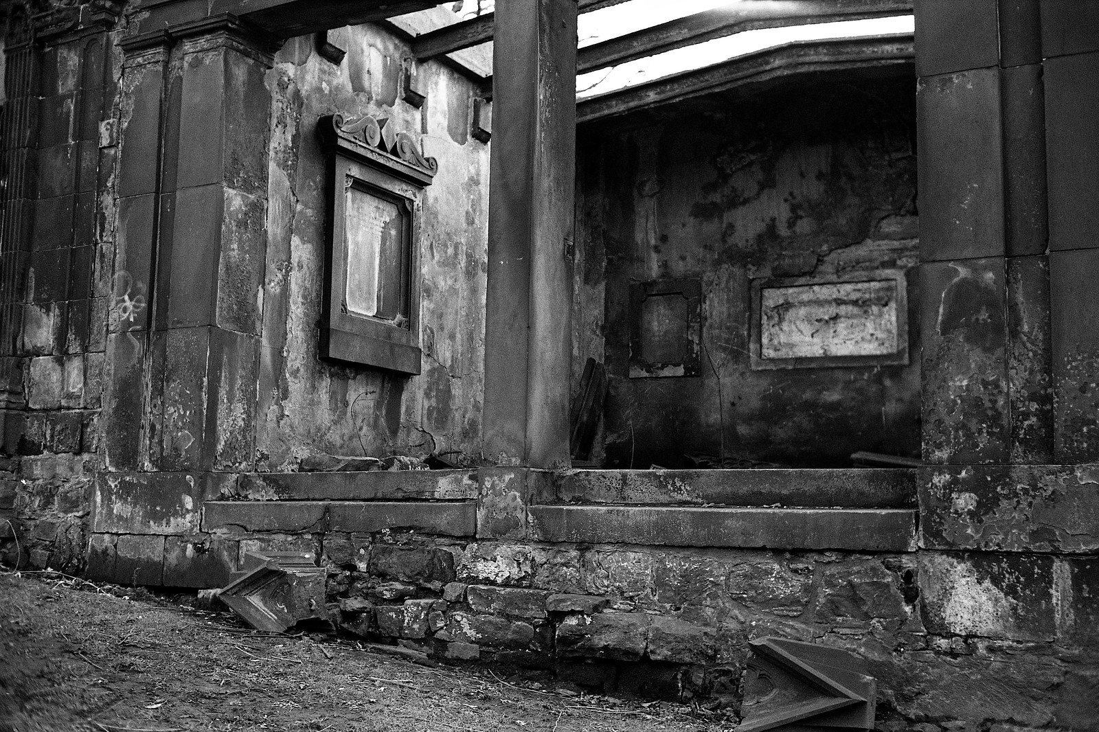 "Image titled ""Derelict, St Cuthbert's Church, Edinburgh."""