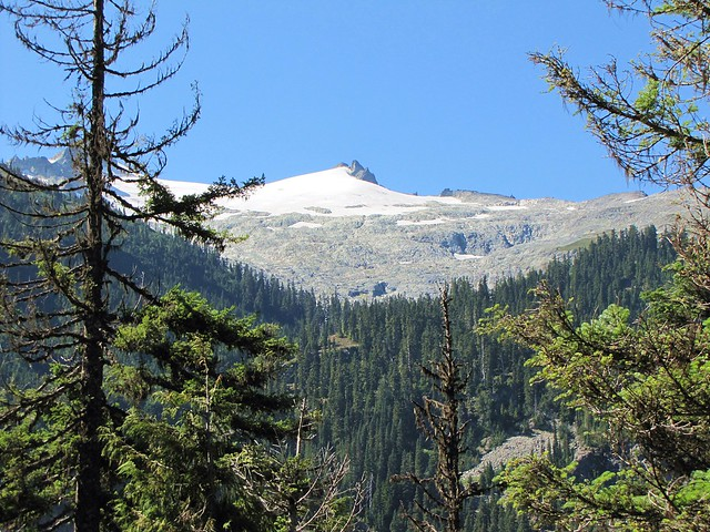 a snowy peak