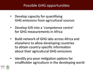 Possible GHG opportunities