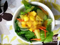 Mango-topped Salad for appetizers