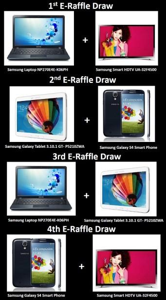 Weekly Samsung Gadget Giveaway & Raffle Prizes!