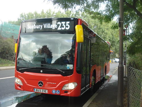 Abellio (Evobus) XMS1/MBK1 on Route 235, Hounslow Heath