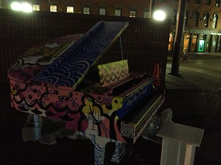 Baby Grand at City Hall Plaza - the 1,000th piano in the world for this art project