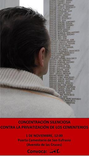 Concentración silenciosa contra la privatización de los cementerios