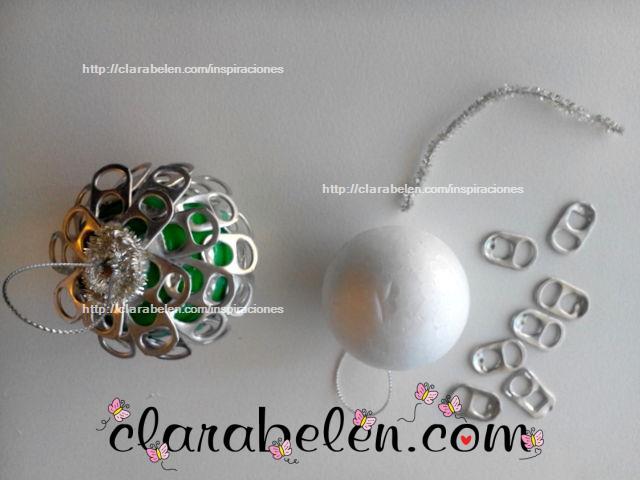 Inspiraciones manualidades y reciclaje reciclaje en - Bolas arbol navidad manualidades ...