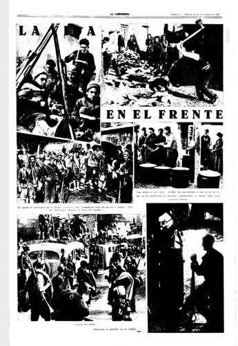 La Vanguardia 28 de noviembre de 1936, suplemento gráfico con fotos de Agustí Centelles. by Octavi Centelles