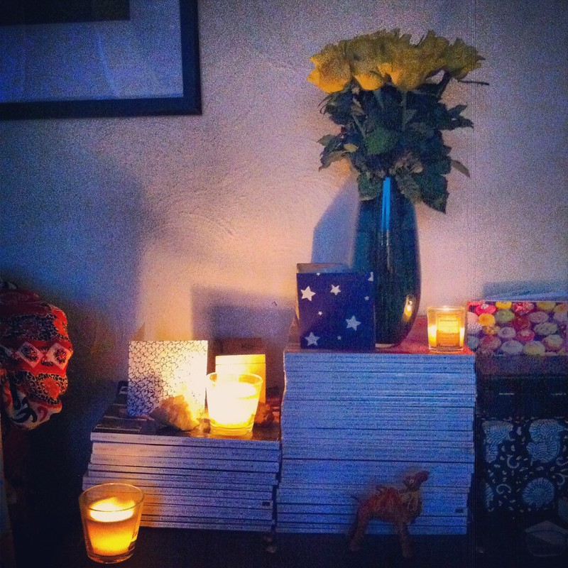 chambray and curls flowers and candles