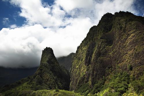 summer sky usa mountains vertical clouds forest canon landscape hawaii rocks hiking peak maui iaoneedle hawai t3i 600d iaovalleystatepark gsamie guillaumesamie