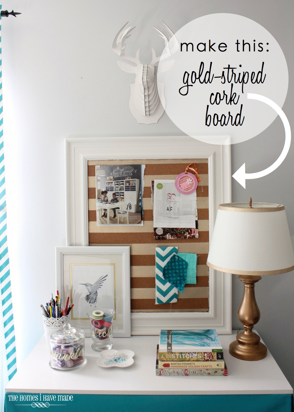 Gold-Striped Cork Board 1