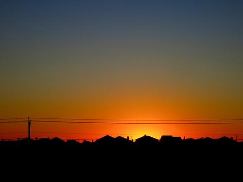 houses sky silhouette sunrise texas suburbia suburbs manor